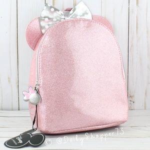 Disney Minnie Mouse Pink Glitter Mini Back Pack